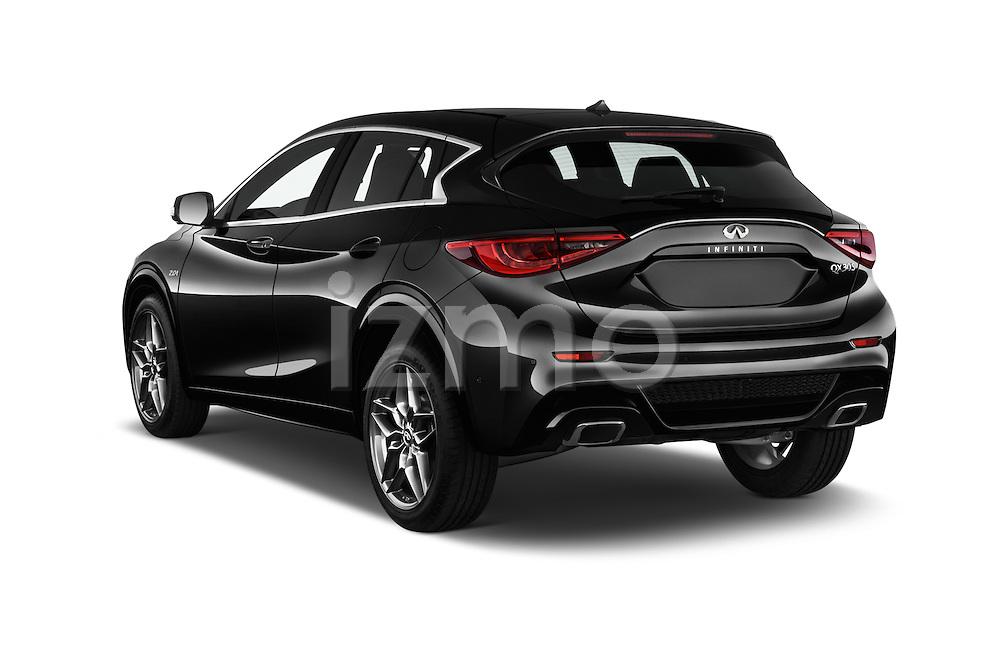 Car pictures of rear three quarter view of 2018 Infiniti QX30 Sport 5 Door SUV Angular Rear