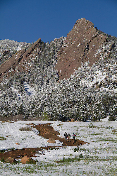 Spring snowstorm in Boulder, Colorado, USA. .  John leads private photo tours in Boulder and throughout Colorado. Year-round.