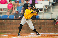 Edgar Figueroa (13) of the Bristol Pirates at bat against the Johnson City Cardinals at Howard Johnson Field at Cardinal Park on July 6, 2015 in Johnson City, Tennessee.  The Cardinals defeated the Pirates 8-2 in game two of a double-header. (Brian Westerholt/Four Seam Images)