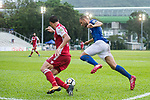 Igor Miovic of Rangers (R) fights for the ball with Wellingsson De Souza of Kwoon Chung Southern (L) during the Premier League, week two match between Kwoon Chung Southern and BC Rangers at on September 09, 2017 in Hong Kong, China. Photo by Marcio Rodrigo Machado / Power Sport Images