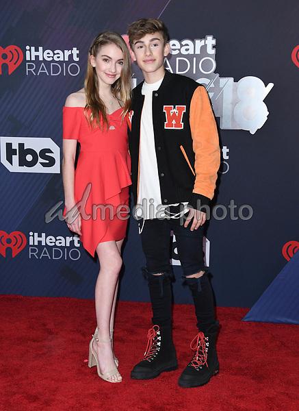 11 March 2018 - Inglewood, California - Lauren Orlando, Johnny Orlando. 2018 iHeart Radio Awards held at The Forum. Photo Credit: Birdie Thompson/AdMedia