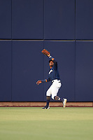 AZL Brewers Blue center fielder Arbert Cipion (23) prepares to catch a fly ball during an Arizona League game against the AZL Rangers on July 11, 2019 at American Family Fields of Phoenix in Phoenix, Arizona. The AZL Rangers defeated the AZL Brewers Blue 5-2. (Zachary Lucy/Four Seam Images)