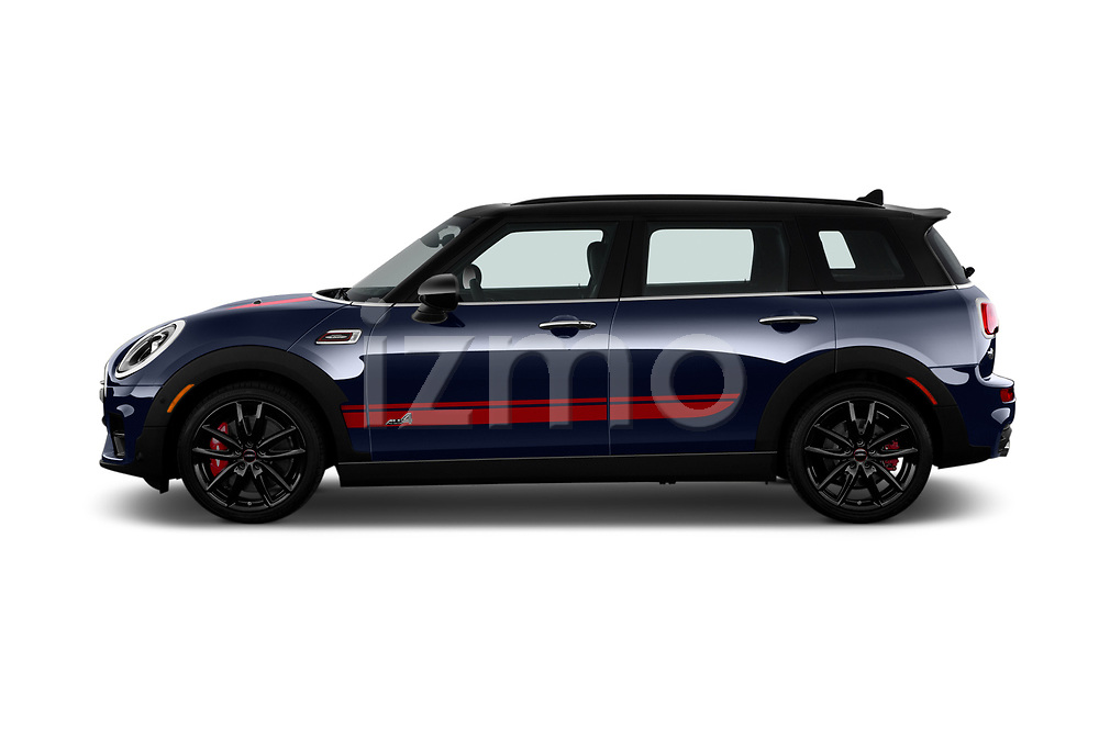 Car Driver side profile view of a 2019 MINI Clubman John-Cooper-Works-ALL4 5 Door Wagon Side View