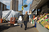 Church Street market, in Marylebone, London, at closing time