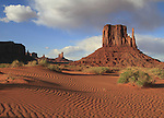 Sand dunes, Monument Valley, northern Arizona .  John offers private photo tours in Arizona and and Colorado. Year-round.