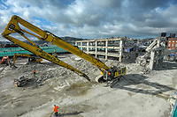 BNZ building demoltion site. CentrePort in Wellington, New Zealand on Monday, 21 September 2020. Photo: Dave Lintott / lintottphoto.co.nz