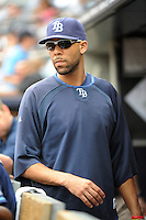 Tampa Bay Rays pitcher David Price #14 during a game against the New York Yankees at Yankee Stadium on September 21, 2011 in Bronx, NY.  Yankees defeated Rays 4-2.  Tomasso DeRosa/Four Seam Images
