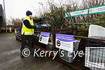Recycling Centre Corca Dhuibhne staff member Tim Falvey sorting recycling materials at the centre.