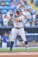 Rome Braves third baseman Austin Riley (13) swings at a pitch during a game against the Asheville Tourists at McCormick Field on April 14, 2016 in Asheville, North Carolina. The Tourists defeated the Braves 5-4. (Tony Farlow/Four Seam Images)