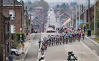 actual race start<br /> <br /> 85th La Flèche Wallonne 2021 (1.UWT)<br /> 1 day race from Charleroi to the Mur de Huy (BEL): 194km<br /> <br /> ©kramon