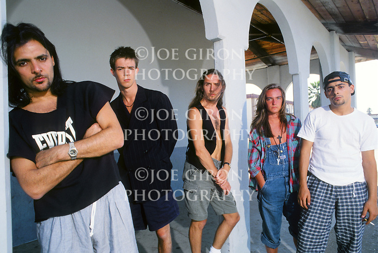 Various portrait sessions of the rock band, Gun.