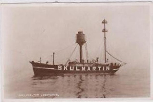 The manned Skulmartin Light vessel of 1886