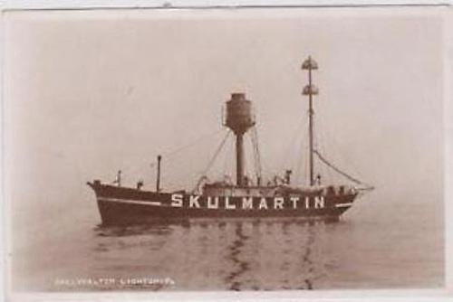 The manned Skulmartin Light vessel of 1886