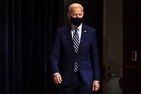 President Joe Biden arrives to talks to staff at the National Institutes of Health on Thursday, February 11, 2021 in Bethesda, Maryland. <br /> CAP/MPI/RS<br /> ©RS/MPI/Capital Pictures