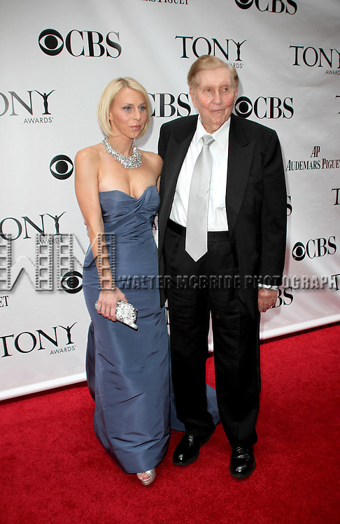 Sumner Redstone and Malia Andelin arriving at the 63rd Annual Antoinette Perry Tony Awards at Radio City Music Hall in New York City on June 7, 2009.