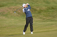 1st October 2021; Kingsbarns Golf Links, Fife, Scotland; European Tour, Alfred Dunhill Links Championship, Second round; Tyrrell Hatton of England hits a shot from the fairway on the twelfth hole at Kingsbarns Golf Links