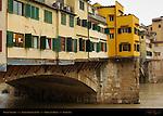 Ponte Vecchio back-shops Arno River Vasari Corridor Florence