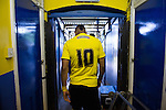 St Albans 0 Watford 5, 26/07/2014. Clarence Park, Pre Season Friendly. Pre Season friendly between St Albans City and Watford from Clarence Park Stadium. Lewis McGugan in the tunnel before kick off. Watford won the game 5-0. Photo by Simon Gill.