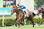 Jockey Zac Purton (front) riding Amazing Moment completes the Race 3 - Arctic Ocean Handicap  on 07 May 2017, at the Sha Tin Racecourse  in Hong Kong, China. Photo by Chris Wong / Power Sport Images