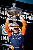Champion #9 Scott Dixon, Chip Ganassi Racing Honda with the Astor Cup