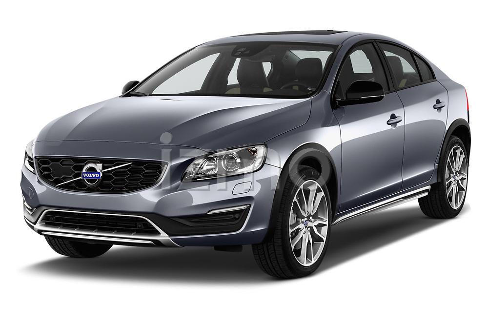 2017 Volvo S60 T5 Platinum 4 Door Sedan angular front stock photos of front three quarter view