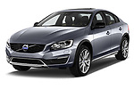 2017 Volvo S60 T5 Platinum 4 Door Sedan angular front stock photos of front three quarter view