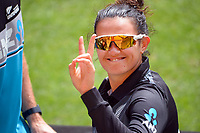 NZ's Thamsyn Newton during the first international women's T20 cricket match between the New Zealand White Ferns and England at Sky Stadium in Wellington, New Zealand on Wednesday, 3 March 2021. Photo: Dave Lintott / lintottphoto.co.nz