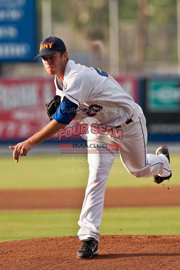 Pitcher Darin Gorski #20 of the St. Lucie Mets during game 3 of the Florida State League Championship Series against the Daytona Cubs at Digital Domain Park on Spetember 11, 2011 in Port St. Lucie, Florida. Daytona won the game 4-2 to win the Florida State League Championship.  Photo by Scott Jontes / Four Seam Images
