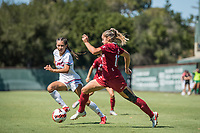 STANFORD, CA - SEPTEMBER 12: Jojo Harber during a game between Loyola Marymount University and Stanford University at Cagan Stadium on September 12, 2021 in Stanford, California.