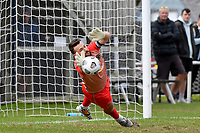 Scott Basalaj of Team Wellington makes a save  during the ISPS Handa Men's Premiership - Team Wellington v Hawke's Bay United at David Farrington Park, Wellington on Saturday 21 November 2020.<br /> Copyright photo: Masanori Udagawa /  www.photosport.nz