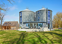 BNPS.co.uk (01202) 558833<br /> Pic: KnightFrank/BNPS<br /> <br /> Grain Designs...<br /> <br /> This novel luxury home comes with loads of storage space - as it has been converted from two grain silos.<br /> <br /> From the outside Stubwood Granary still looks much like its original purpose but the inside has been turned into a modern five bedroom property worth £1.95m.<br /> <br /> The three-storey house is near Hungerford on the Wiltshire/Berkshire border and has its own pond and views over unspoilt farmland in an area of outstanding natural beauty.