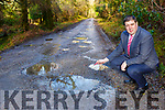 Cllr Niall Kelliher wants the potholes on the Old Kenmare car park road in Muckross to be repaired