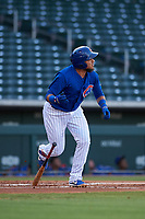 AZL Cubs 1 designated hitter Cristhian Adames (2) runs to first base during a rehab assignment in an Arizona League game against the AZL Royals on June 30, 2019 at Sloan Park in Mesa, Arizona. AZL Royals defeated the AZL Cubs 1 9-5. (Zachary Lucy/Four Seam Images)
