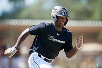 Michael Dixon during the WWBA World Championship at the Roger Dean Complex on October 19, 2018 in Jupiter, Florida.  Michael Dixon is an outfielder from Oakland, California who attends Berkeley High School and is committed to San Diego.  (Mike Janes/Four Seam Images)