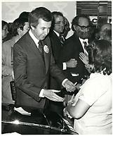 Joe Clark, en avril 1979 (date exacte inconnue)<br /> <br /> <br /> PHOTO :  John Raudsepp - Agence Quebec presse