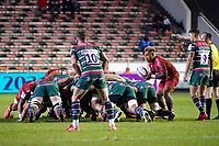 26th September 2020; Toulon, France; European Challenge Cup Rugby, semi-final; RC Toulon versus Leicester Tigers;  Sonatane Takulua (RC Toulon) puts into the scrum watched by Ben Youngs