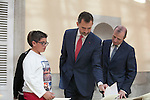 King Felipe VI of Spain receives the kids winners of the 32nd and 33rd edition of the school competition ¿Que es un rey para ti? at El Pardo Palace in Madrid, Spain. October 27, 2014. (ALTERPHOTOS/Victor Blanco)