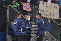 Timo Werner (Deutschland Germany) mit Kai Havertz (Deutschland Germany), daneben Torwart/Goalie Bernd Leno (Deutschland Germany) - Hamburg 08.10.2021: Deutschland vs. Rumänien, Volksparkstadion Hamburg