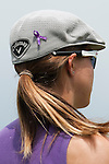 CHON BURI, THAILAND - FEBRUARY 17:  Vicky Hurst of USA wearing a purple ribbon on her Callaway hat during day one of the LPGA Thailand at Siam Country Club on February 17, 2011 in Chon Buri, Thailand. Photo by Victor Fraile / The Power of Sport Images