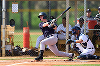 FCL Yankees Cooper Bowman (29) bats during a game against the FCL Tigers West on July 31, 2021 at Tigertown in Lakeland, Florida.  (Mike Janes/Four Seam Images)