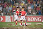 HBSC ball carriers are twins during the HSBC Hong Kong Rugby Sevens 2017 on 09 April 2017 in Hong Kong Stadium, Hong Kong, China. Photo by Marcio Rodrigo Machado / Power Sport Images