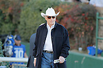 Legendary trainer D. Wayne Lukus walking to meet with the owner and jockey of Strong Mandate before the running of the Southwest Stakes (Grade III) at Oaklawn Park in Hot Springs, Arkansas on February 17, 2014. (Credit Image: © Justin Manning/Eclipse/ZUMAPRESS.com)