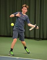 March 8, 2015, Netherlands, Rotterdam, TC Victoria, NOJK, Daan van Dijk (NED)<br /> Photo: Tennisimages/Henk Koster