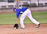 Fort Worth Cats Infielder Cory Morales (18) in action during the American Association of Independant Professional Baseball game between the Amarillo Sox and the Fort Worth Cats at the historic LaGrave Baseball Field in Fort Worth, Tx. Fort Worth defeats Amarillo 3 to 0......