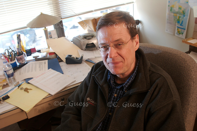 Portrait of Jay Heck in his office at Common Cause Wisconsin.