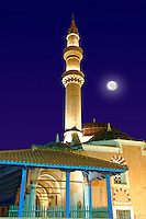 Mosque in the Turkish area of Rhodes, Greece. UNESCO World Heritage Site