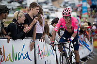 RIgoberto Uran (COL/EF Education First) in the race finale towards the finish (at almost 2000m alt.)<br /> <br /> Stage 5: L'Eliana to Observatorio Astrofísico de Javalambre (171km)<br /> La Vuelta 2019<br /> <br /> ©kramon