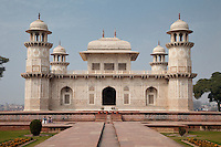 """Agra, India.  Itimad-ud-Dawlah, Mausoleum of Mirza Ghiyas Beg.  The tomb is sometimes referred to as the """"Baby Taj."""""""