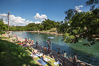 Barton Springs Pool is not only an awesome place to go for a dip, it's also a beautiful picnic spot in Zilker Park, Austin, Texas.