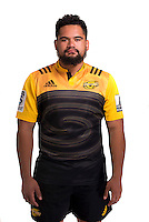 Len Apisai. Hurricanes Super Rugby official headshots at Rugby League Park, Wellington, New Zealand on Wednesday, 6 January 2016. Photo: Dave Lintott / lintottphoto.co.nz